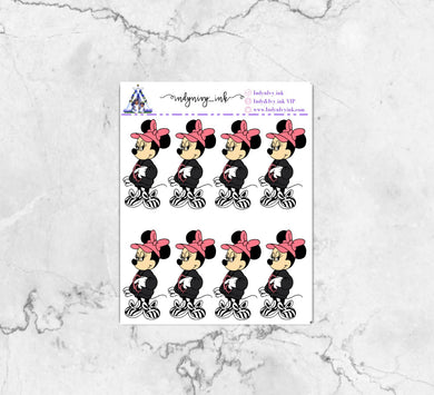 Resting Minnie Face Sticker Sheet