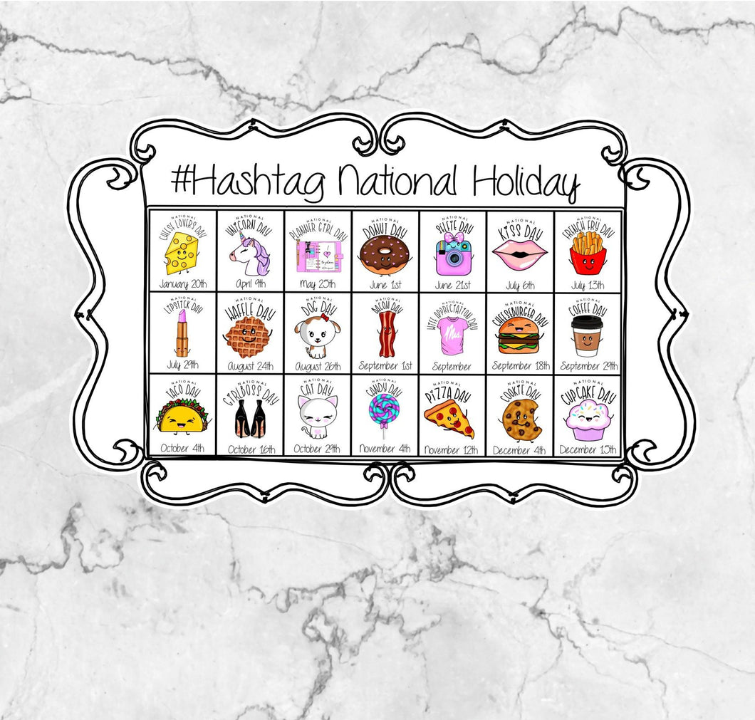National Holiday Sticker Sheet