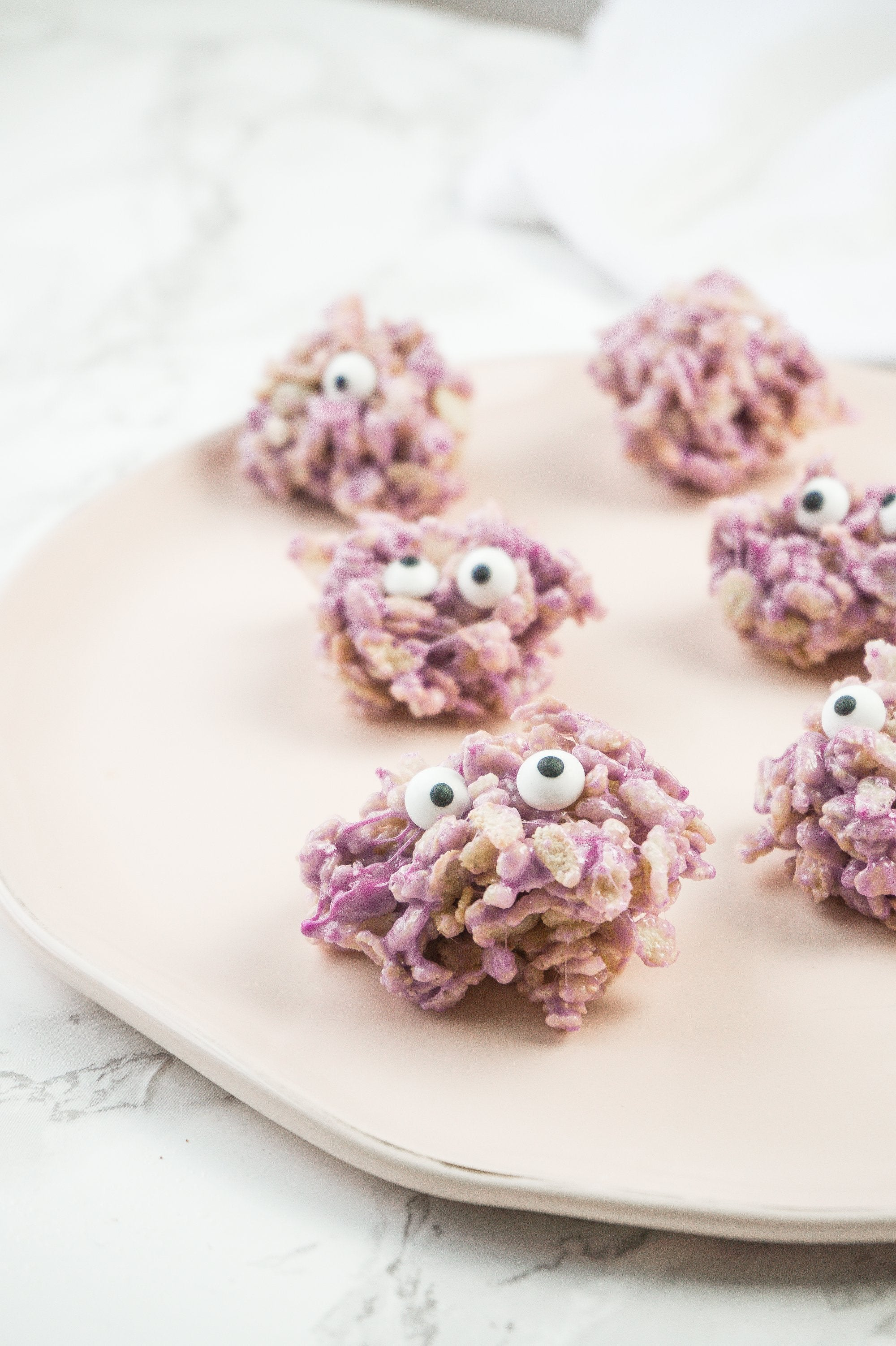 Rice Krispy Monster Bites