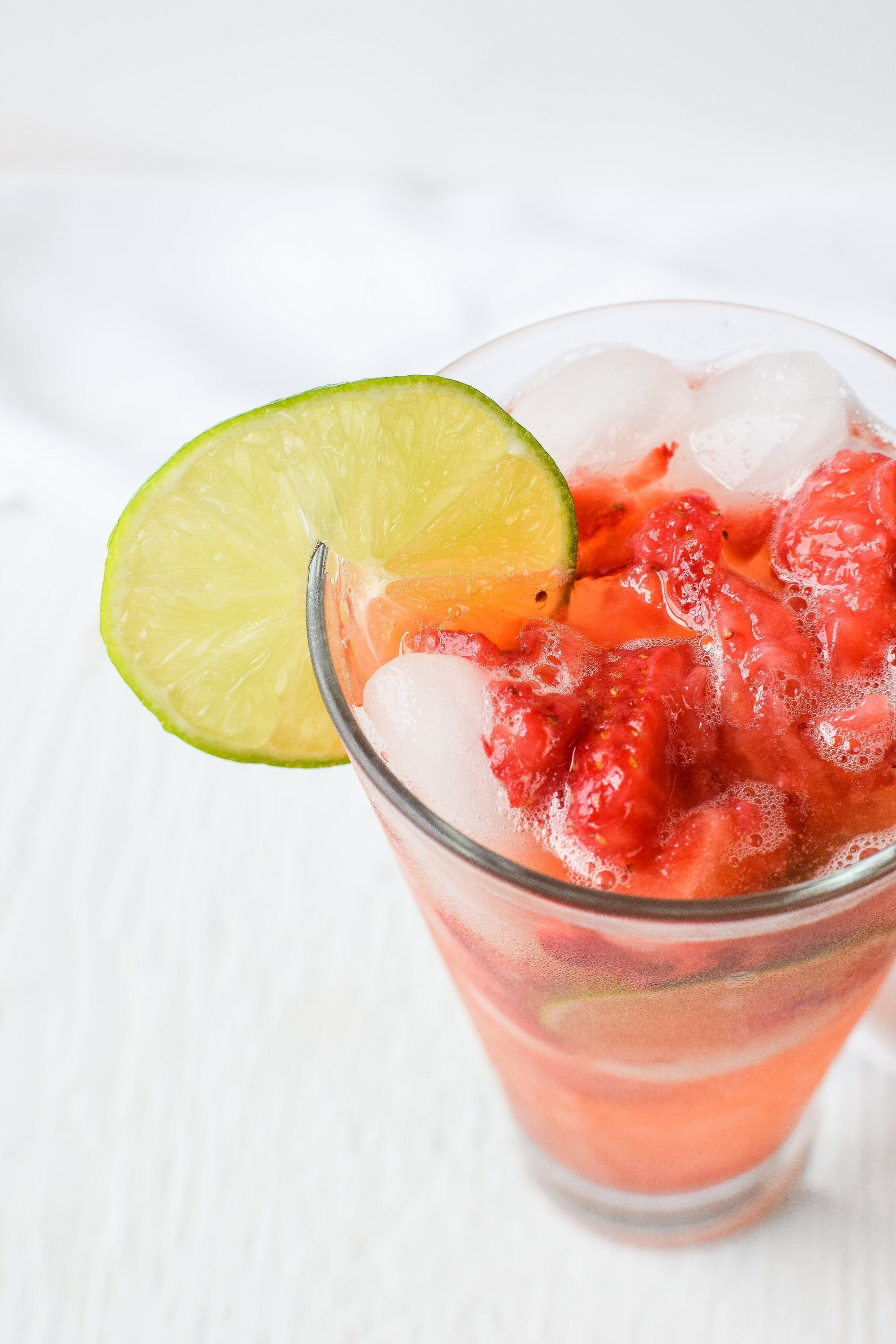 Strawberry Lime Aqua Fresca
