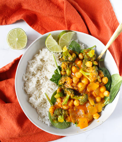 pumpkin curry vegan dinner