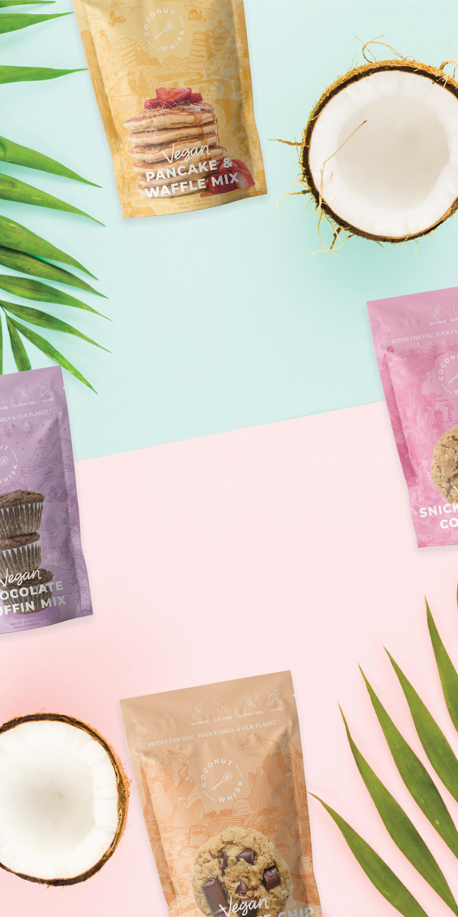 Vegan and gluten free baking mixes