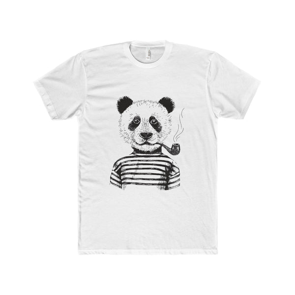 old - Hipster Panda Cotton Crew Tee