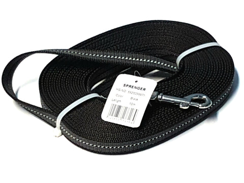 Tracking/Walking Rubberized Leash without Handle – Black