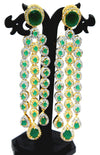 Alekip High Grade sparkling Cz Designer Earrings With Semi Precious Emerald Stone