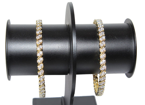 Alekip Traditional 24 Karat Gold Plated Cz Bangles for Women and Girls