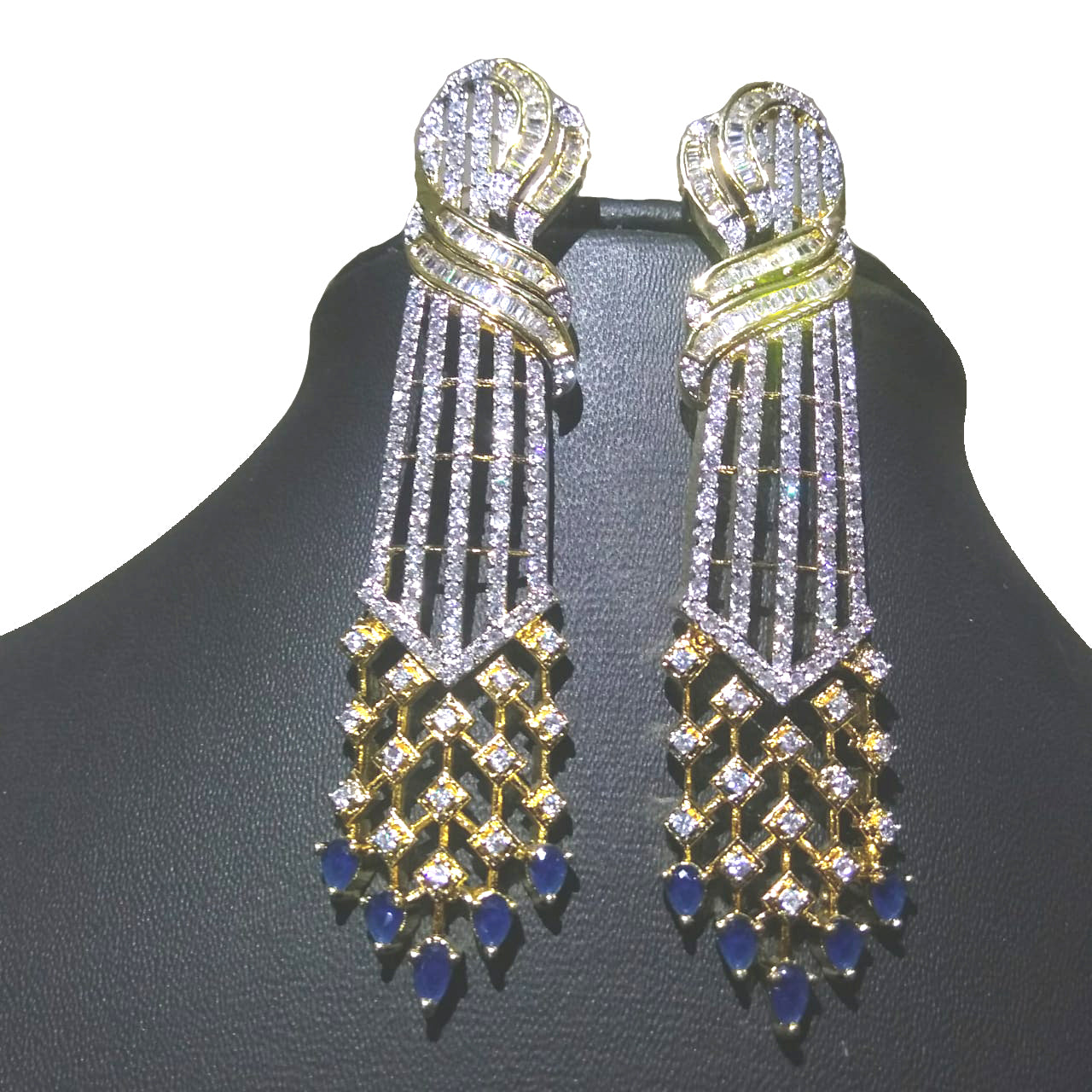 7dad52b4a Alekip s Alluring American diamond earrings having antique work looks great  with casual as well as party ...