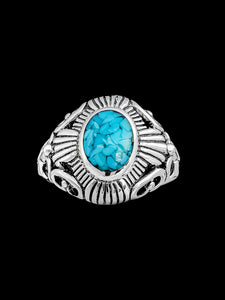 Turquoise Ring, 925 Sterling Silver Ring, Abstract Silver Ring