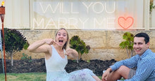 """Will you Marry Me"" flex neon sign"