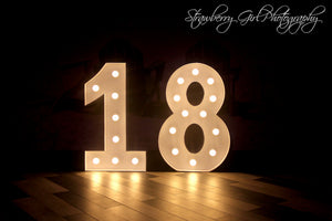 18 light up numbers - 3.5ft