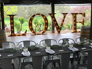 Rustic LOVE - 1.5m Light up Letters - Love Letters
