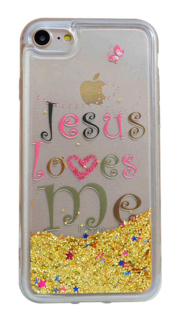 Jesus loves me (English) - iPhone 7 - Liquid Quicksand Phone Case/耶稣爱我英文-iphone7-液体流沙PC手机壳