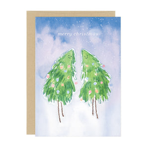 Merry Christmas Tree Ladies Holiday Card Wholesale