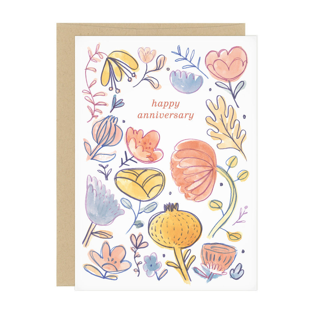 Pastel Autumn Anniversary Card