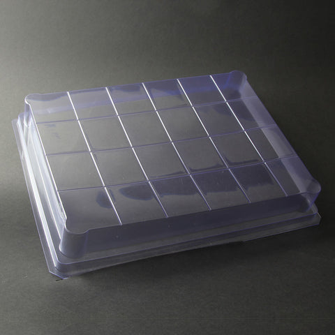 24-Bar Square Grid Slab Tray Soap Mold