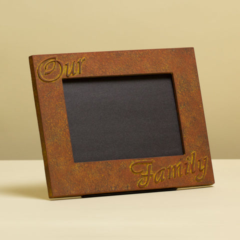 """Our Family"" 5x7 Picture Frame Mold"