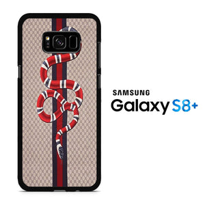 wholesale dealer 4d9b4 83350 Gucci Snake Brown Samsung Galaxy S8 Plus Case