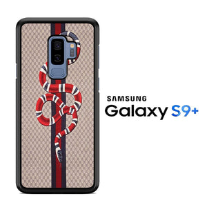 newest 33bbe 7f754 Gucci Snake Brown Samsung Galaxy S9 Plus Case