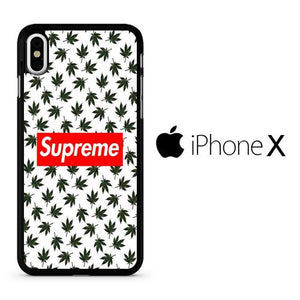 Leaf Black Supreme Wallpaper Iphone X Case Arphostore