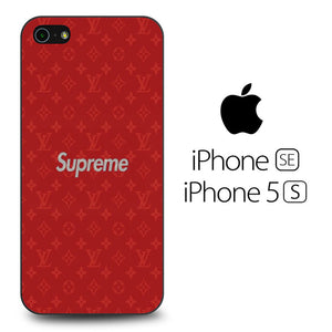 new product be3a6 40c33 Supreme Red Louis Vuitton iPhone 5 / 5s / SE Case