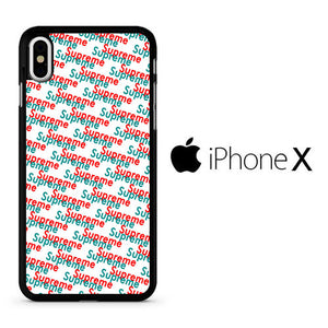 Supreme Wallpaper Red Green Iphone X Case