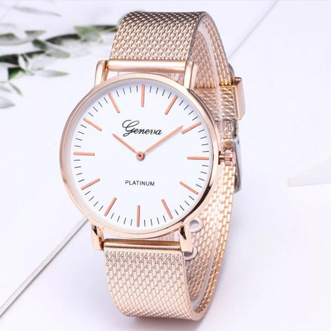 Ladies Fashion Gold Silver Black White Wrist Watches