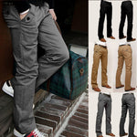Mens Chinos Trousers Cotton Slim Fit Jeans Straight Leg Designer Casual - Toplen