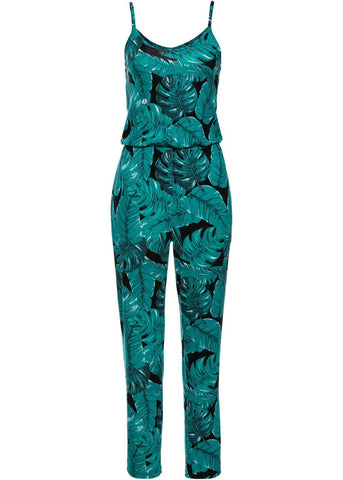 Women Sleeveless Floral Playsuit Summer Romper Long Jumpsuit Trousers - Toplen