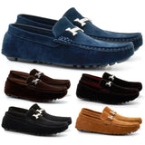 Mens Faux Suede Casual Loafers Moccasins Slip On Driving Shoes - Toplen