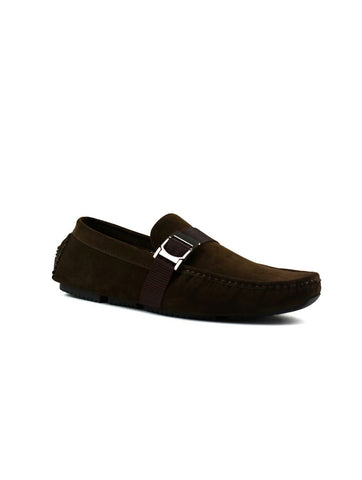 Men's Buckle Strap Loafer Brown