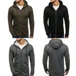 Mens Hooded Outwear Zip Up Hoodies - Toplen