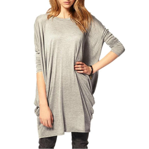 Women Batwing Long Sleeve Causal Tunic Tops - Toplen