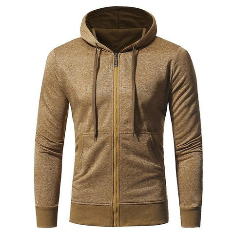Men's Casual Slim Fit Hooded Sweatshirt Hoodies - Wishmid