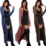 Womens Long Sleeve Velvet Open Front Casual Cardigans - Toplen
