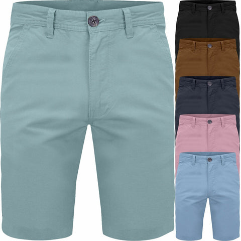 Mens Chino Cotton Casual Summer Shorts