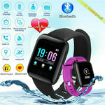 Smart Watch Bluetooth Heart Rate Blood Pressure Fitness Activity Tracker