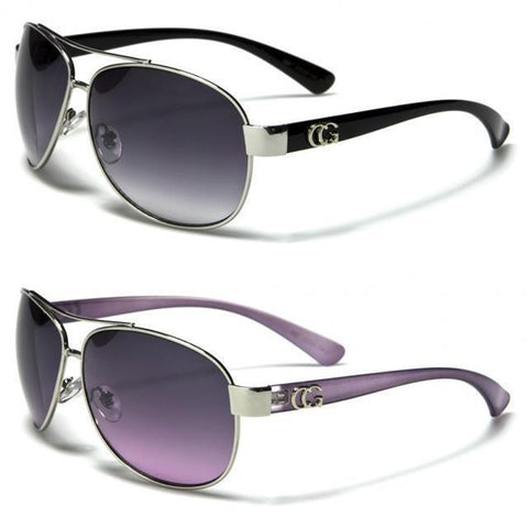 Womens Ladies Designer Wrap Aviator Metal UV400 Sunglasses - Toplen
