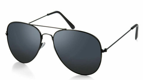 Pilot All Black Lens Aviation Unisex Sunglasses