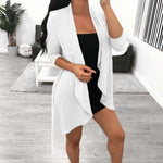 Womens Waterfall Loose Cardigan Tops - Toplen