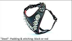 "Leather Harness- ""Steel"""