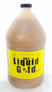 SBK'S LIQUID GOLD™ Weight Gainer & Coat Conditioner - One Gallon (Bacon Flavor)