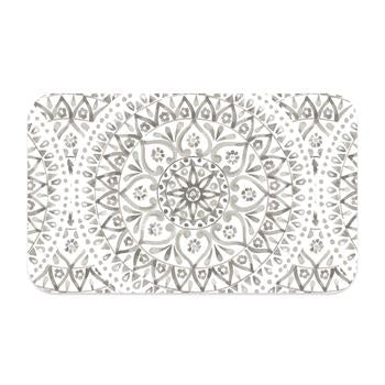 Boho Medallion Pet Placemat - Taupe