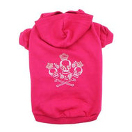 Crowned Crossbones Hoodies - Raspberry Sorbet