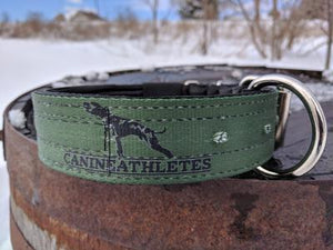 "CANINE ATHLETES MILITARY GREEN HEAVY DUTY 1.5"" NEOPRENE PADDED WORKING DOG COLLAR"