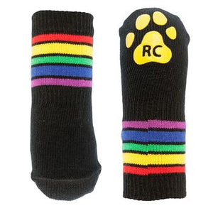 Rainbow Stripes PAWks Dog Socks