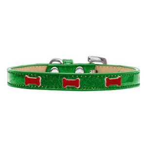 Black Bone Widget Dog Collar - Emerald Ice Cream
