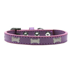 Black Bone Widget Dog Collar - Lavendar