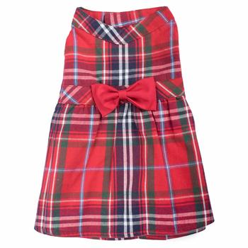 Worthy Dog Red Plaid Dog Dress