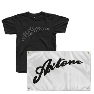Axtone Essentials Full Logo T-Shirt & Flag Bundle