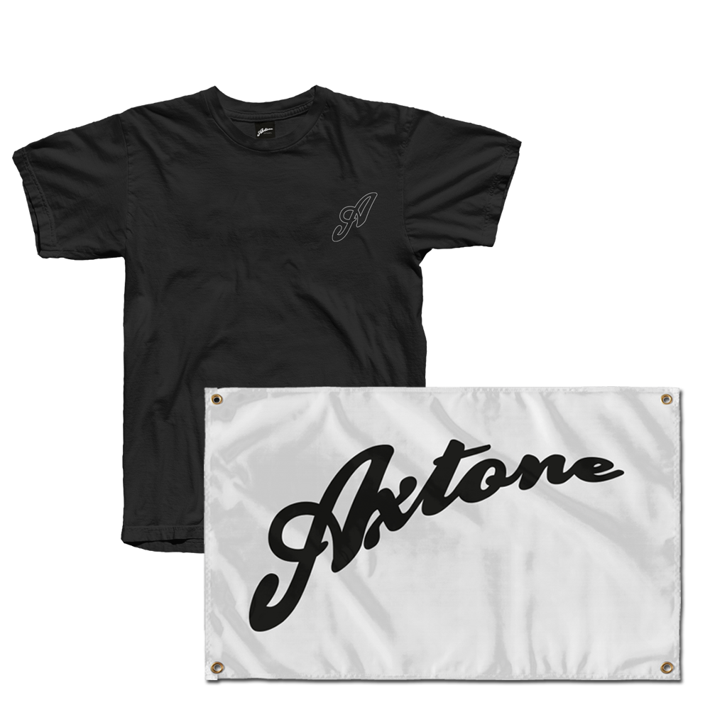 Axtone Essentials Pocket Logo T-Shirt & Flag Bundle